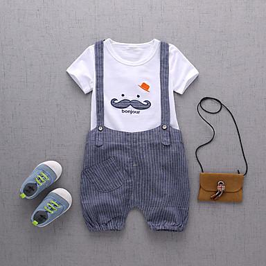 Copii / Copil Băieți Imprimeu Manșon scurt Set Îmbrăcăminte