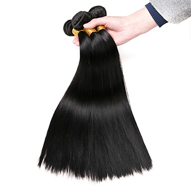 baratos Extensões de Cabelo Natural-3 pacotes Cabelo Eurásio Liso 8A Cabelo Humano Cabelo Humano Ondulado Extensões de Cabelo Natural Côr Natural Tramas de cabelo humano extensão Venda imperdível Extensões de cabelo humano Todos