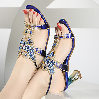 Talon été Confort Noeud Nouveauté Bout ouvert de Bottier synthétique Sandales Femme 06684566 Chaussures PU microfibre Printemps Boucle Strass Wg4BvR0