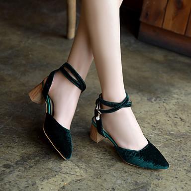 Bottier Talons Bout 06668431 Vert Talon Eté Chaussures Confort Bleu Rouge à pointu Similicuir Femme Chaussures YUZ8wq
