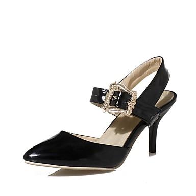 Pièces Aiguille Similicuir Boucle Talon 06697501 pointu Femme D'Orsay Sandales Vert Rouge amp; Deux été Printemps Bout Chaussures Beige 0OOwxq5v
