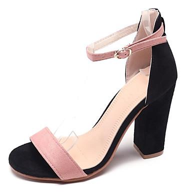 06688644 Zapatos Confort Sandalias redondo Cuadrado Dedo Tacón PU Mujer Negro Beige Rosa Verano S7gUTqw