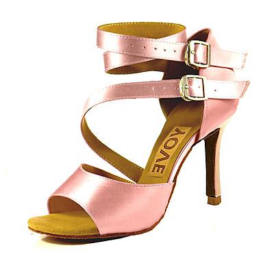 abordables Meilleures Ventes-Femme Chaussures de danse Satin Chaussures Latines / Chaussures de Salsa Boucle / Ruban Sandale / Talon Talon Personnalisé Personnalisables Bronze / Amande / Chair / Utilisation / Cuir / EU41