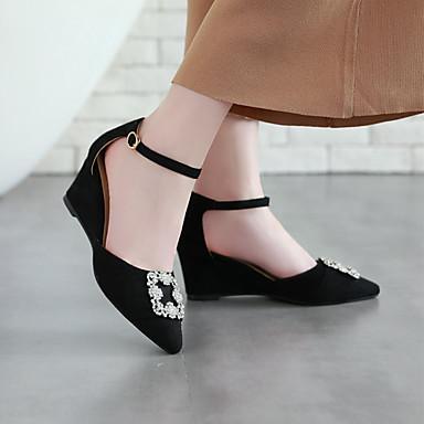 Automne semelle pointu Strass compensée Chaussures Bout Escarpin de Hauteur Boucle Basique Cuir Talons Nubuck 06701616 Chaussures à Jaune Femme qgtPq