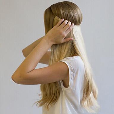 voordelige Extensions van echt haar-Flip In Extensions van echt haar Klassiek Echt haar Extentions van mensenhaar Dames Blonde