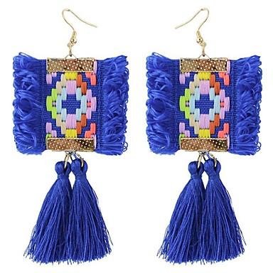 Syntetyczny Tanzanit Frędzel / Wzór geometryczny Kolczyki wiszące - Vintage, Artystyczny, Modny Black / Purple / Niebieski Na Ceremonia / Wyjściowe / Ponadgabarytowych
