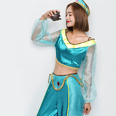 Princess Jasmine Cosplay Costume Christmas / Halloween / Carnival Festival / Holiday Halloween Costumes Solid Color  sc 1 st  LightInTheBox & Princess Jasmine Cosplay Costume Christmas / Halloween / Carnival ...