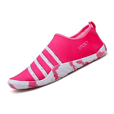 Pentru femei Pantofi Țesătură Primavara vara Confortabili Mocasini & Balerini Plimbare Toc Drept Roz / Negru / Alb / Negru / Albastru
