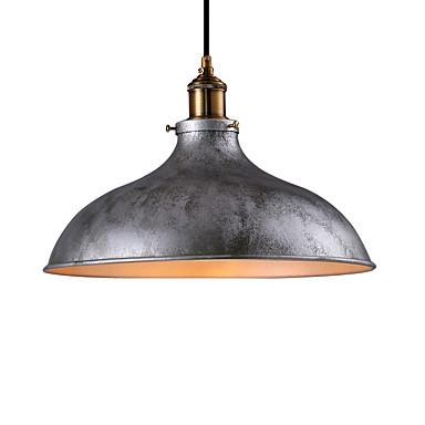 vintage anheng lys industrielle 1-lys sølvgrå metall spisestue hall kafé barer klær butikkbelysning