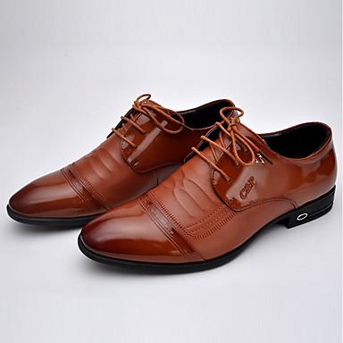 Bărbați Pantofi de confort Piele Primăvară Oxfords Negru / Maro / În aer liber