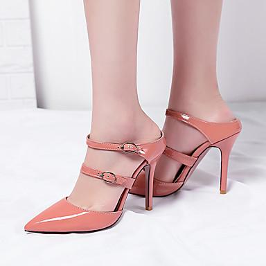 Bride Talon Rouge Sandales Aiguille été Femme pointu Printemps A Mariage Arrière Jaune Chaussures Boucle 06697558 Bout Similicuir Rose AwgXp