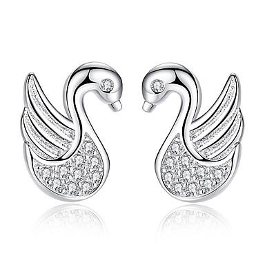 voordelige Dames Sieraden-Dames Oorknopjes Eend Dier Dames Modieus oorbellen Sieraden Zilver Voor Dagelijks Afspraakje