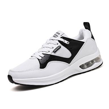 Femme Pied rond d'Athlétisme Plat Automne Talon à Chaussures Course Confort Blanc Chaussures Noir 06672102 Bleu Bout Tulle rwr4nf8qS