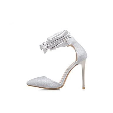 Chaussures Argent Femme 06680261 Bout Ruban Talon Confort Printemps Chaussures Talons Paillettes Or à Rouge Paillette Aiguille pointu pF4FIwq