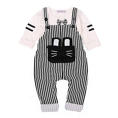 Bebelus Băieți Dungi Manșon Lung Set Îmbrăcăminte