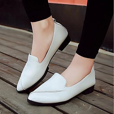 Negro taco Zapatos Zapatos Verano PU Blanco 06701866 y de Confort Slip Mujer Gris Tacón bajo On Bajo xYdqUw6n