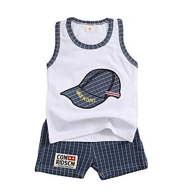 Bebelus Băieți Peteci Fără manșon Set Îmbrăcăminte