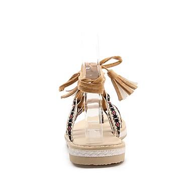 Gland 06684682 Cheville Noeud Amande Eté Bout Rose Chaussures Noir Sandales Nubuck Femme de ouvert Cuir Bride Plat Talon UOqcwT