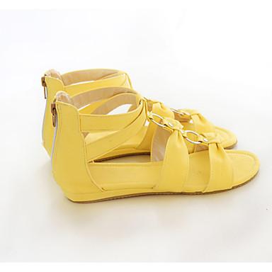 Confort Similicuir Femme Talon Blanc Bout Bas Chaussures Rouge Sandales Eté Jaune 06682201 ouvert taw5Bxqw