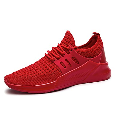 Men's Light Soles Net / Tulle Shoes Summer Comfort Sneakers Running Shoes Tulle / Walking Shoes Black / Gray / Red 392b07