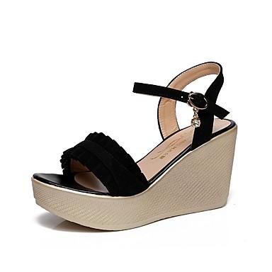 Chaussures Evénement amp; Eté Arrière semelle compensée 06687528 Sandales Bride Soirée Noir Rose Flocage de Bouton ouvert Hauteur Femme A Strass Bout HFgwH