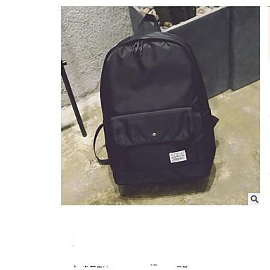 Dla obu płci Torby Nylon plecak Zamek Black / Czerwony