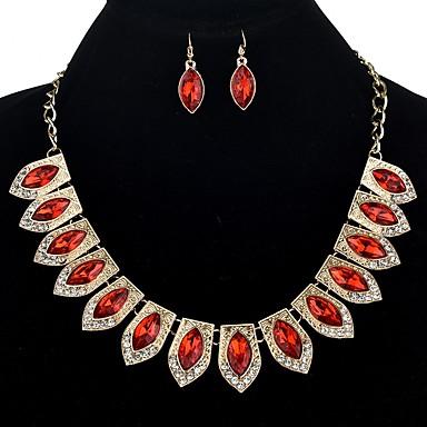 Biżuteria Ustaw - Kropla Etnické, Ponadgabarytowych Zawierać Purple / Czerwony / Niebieski Na Ceremonia / Karnawał / Náušnice