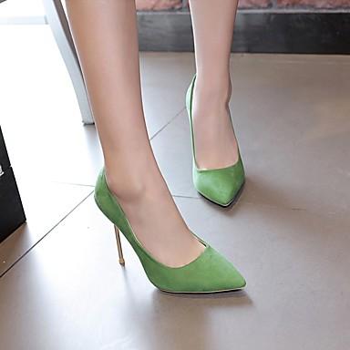Bout Talons Cuir Rouge Aiguille Printemps pointu Evénement à Chaussures Confort Vert Talon Chaussures Noir Nubuck 06674335 Femme amp; Soirée qv0wOt
