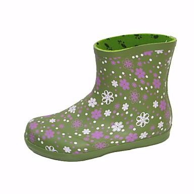 Verde Mujer Otoño Confort Goma 06683983 Botas lluvia Botas Rojo de Zapatos Tacón Bajo q11PrwH6