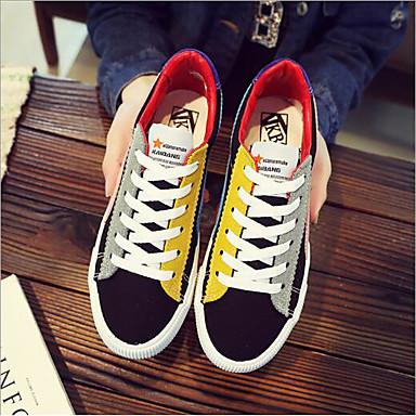 Zapatos Tacón redondo Negro Mujer Dedo Blanco deporte Tela Plano de verano Zapatillas Primavera 06693553 Confort Morado 4qBd8qx