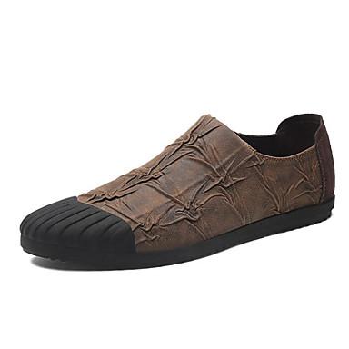 Męskie Buty Syntetyczny Microfiber PU Wiosna Comfort Mokasyny i pantofle Black / Coffee / Brown