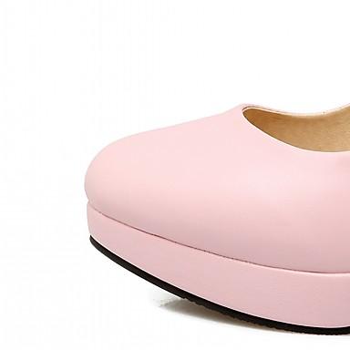 Bottier Confort Nouveauté Automne Femme Rose Similicuir Talon Chaussures Chaussures 06683440 Strass Bout Noir à Blanc Talons rond wqqxtZIzrE