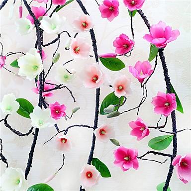 Sztuczne Kwiaty 1 Gałąź Klasyczna Pasterski Styl Storczyki Kwiaty na ścianę