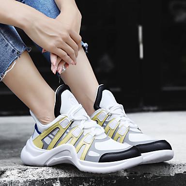 Plat d'Athlétisme Chaussures Bleu Chaussures Printemps Tissu Noir Jaune Femme Tulle été Talon 06693958 Confort zw4aq0