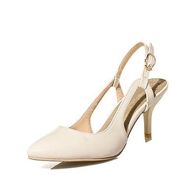 Rouge Sandales Beige 06698828 Boucle Chaussures Arrière Bout Similicuir été Talon Aiguille Bride A Vert pointu Printemps Femme 60qOApO