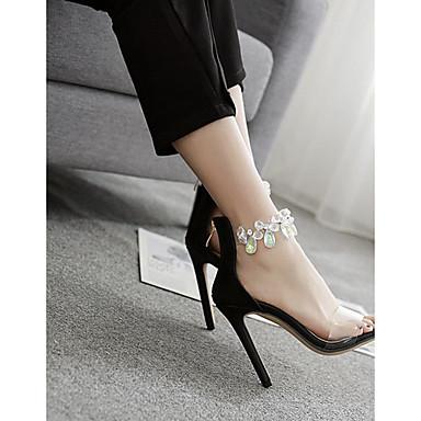 Amande Chaussures Escarpin Talon Sandales PUT Femme 06684328 Strass Aiguille Basique Eté Noir qdxAvxSnwC