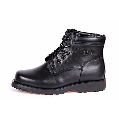 Men's Cowhide Black Winter Combat Boots Boots Black Cowhide 2091ad
