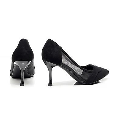 Heel Talons Kitten Femme Bout Flocage Eté Soirée Noir Chaussures Chaussures 06675893 à Evénement Nouveauté Tulle Rose pointu amp; 8q8zW0wf
