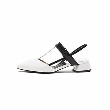 06659719 microfibre Chaussures PU Femme Blanc synthétique Confort Sandales Printemps Eté Bottier de Talon t7aqd5wxq