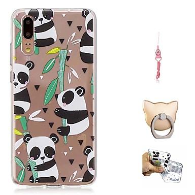 Maska Pentru Huawei P20 Model Capac Spate Panda Moale TPU pentru Huawei P20