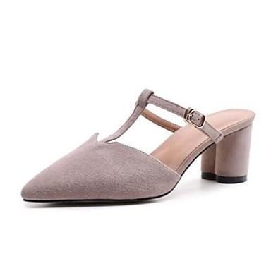 06669030 Sabot amp; Confort Cuir Mules Gris Bottier Talon Marron Femme Noir Printemps Chaussures Eté w6qHXOgX
