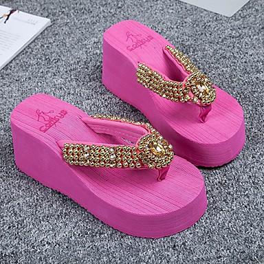 Verano flip Beige Zapatos y Lentejuelas plataforma Zapatillas 06684246 Mujer Media Fucsia Confort flops dvExYwqnqF
