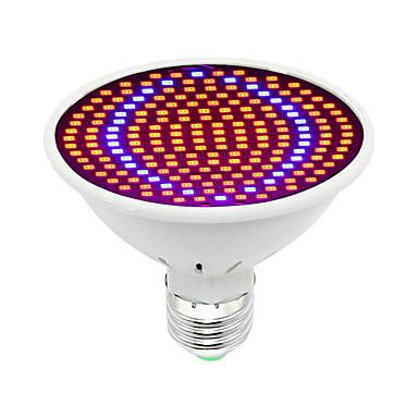 1pc 30W 1600lm E26 / E27 Growing Light Bulb 200 Cuentas LED SMD 5730 Decorativa Azul Rojo 85-265V