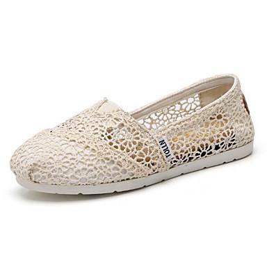 Plano Verano 06683551 Dedo Slip y redondo Tacón taco Tela Negro Confort Zapatos Beige On bajo Azul de Zapatos Mujer wHAB7Bx