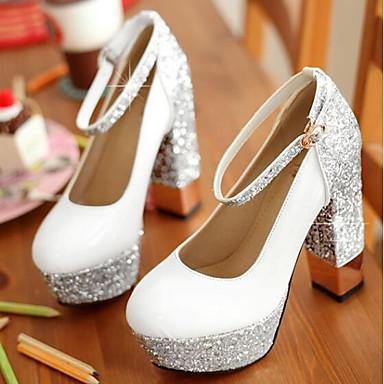 Soirée Femme Chaussures Eté Argent Evénement Bottier 06716575 Talon à Polyuréthane Confort Chaussures Noir amp; Blanc Talons rwIExqr7R