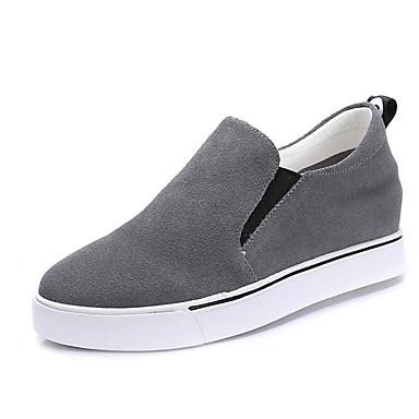Chaussons Hiver Gris 06682298 Noir Automne Femme Chaussures Cuir Mocassins D6148 Confort et Talon Plat Nubuck IO18wq1xZ