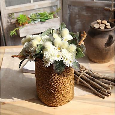 Sztuczne Kwiaty 1 Gałąź Klasyczna Retro Chryzantema Bukiety na stół