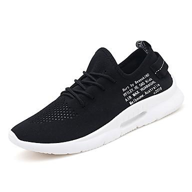 Męskie Komfortowe buty Dzianina / Tiul Lato Adidasy Biały / Czarny