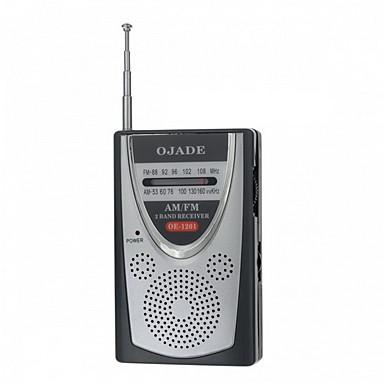 OJADE OE-1201 Tragbare Mini AM / FM 2-Band Radio