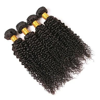 4 zestawy Włosy peruwiańskie Curly Włosy naturalne Pakiet One Solution Kolor naturalny Ludzkie włosy wyplata Rozbudowa / Gorąca wyprzedaż Ludzkich włosów rozszerzeniach Wszystko